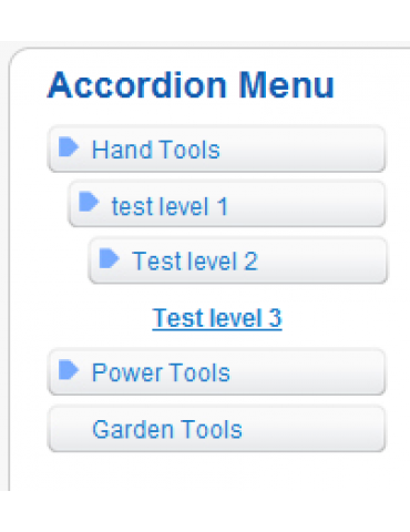 Virtuemart Accordion Menu