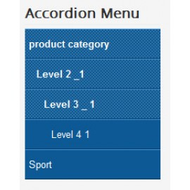 Accordion Menu for Hikashop