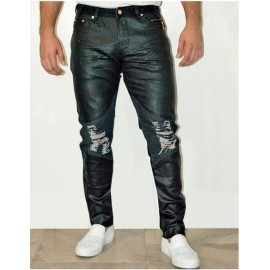 1/2 Coated – Ripped Jeans