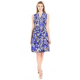 Lark & Ro Women's Sleeveless Bow Dress
