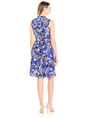 Lark & Ro Women's Sleeveless Bow Dress