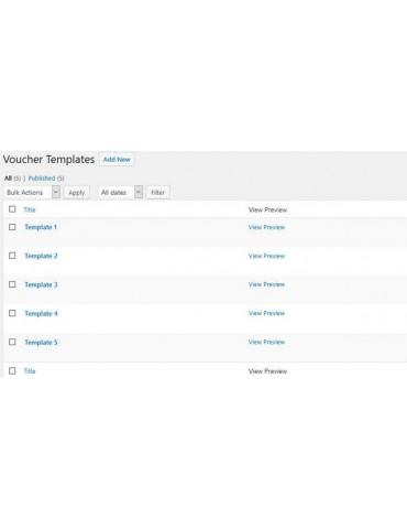 Woocommerce Voucher for Wordpress