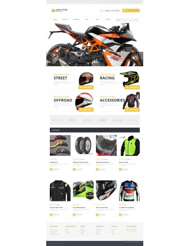 NaTheme 01 - Moto Store theme for Opencart