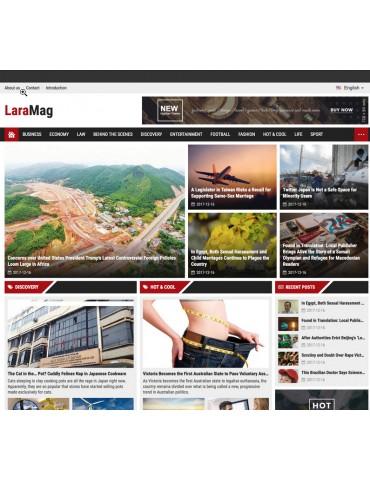LaraMag - Laravel Magazine multilingual system