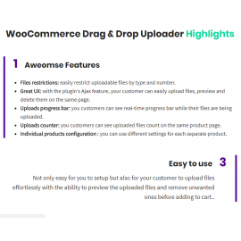 WooCommerce Drag & Drop Uploader | Ajax File Upload