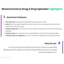 WooCommerce Drag & Drop Uploader | Ajax File Upload