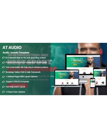 Responsive Audio Joomla Template