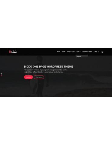 Biddo - One Page Portfolio WordPress Theme