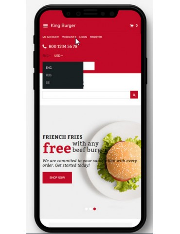 KingBurg - Burger OpenCart Template
