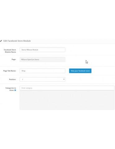 FacebookStore - Opencart Extensions