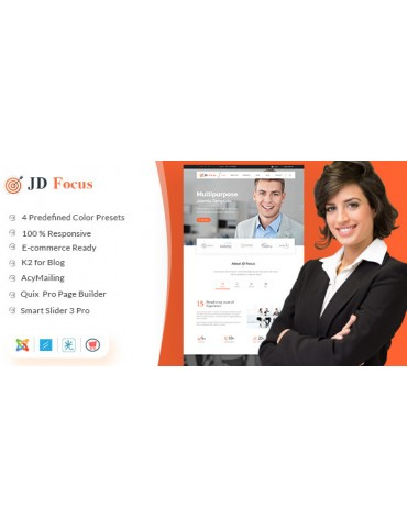JD Focus - Multipurpose Joomla Business & eCommerce Template