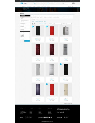 Freeze Refrizerator Freeze Ecommerce OpenCart 3.x Theme
