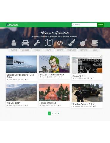 GameMods Theme - Game Modding Wordpress Theme