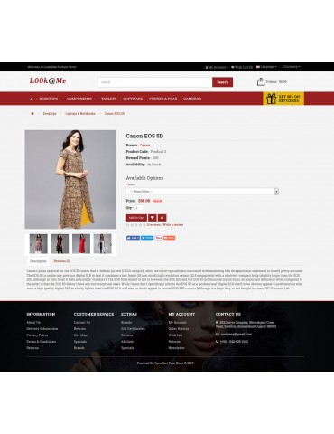 Look Me Fashion Shop Opencart theme