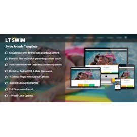 Swimming School Joomla template