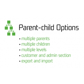 Parent-Child Options Enhanced OpenCart Product Options