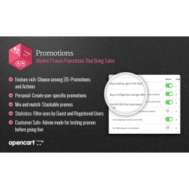 Promotions - Opencart module