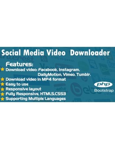Social media video downloader