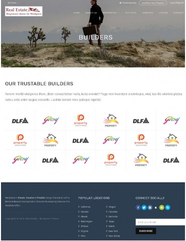 Real Estate | Responsive Wordpress theme