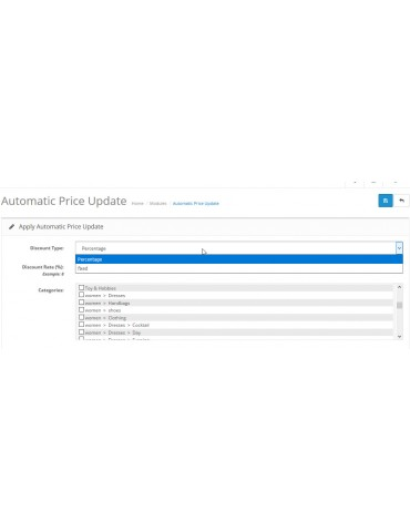 Automatic Update Price extension