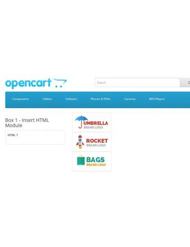 Insert HTML module for OPencart