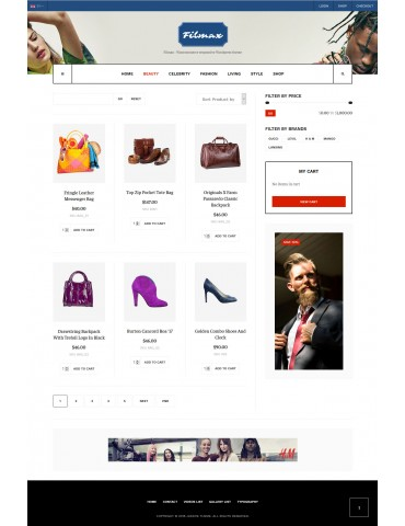 Filmax Woocommerce responsive wordpress theme