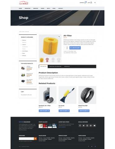 Cars World - responsive Wordpress theme