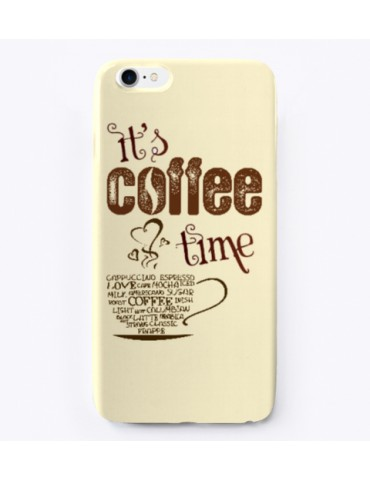 iPhone Rubber Case - It is coffee time