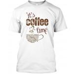 It is coffee time - Gildan unisex tank - Hanes tagless Tee